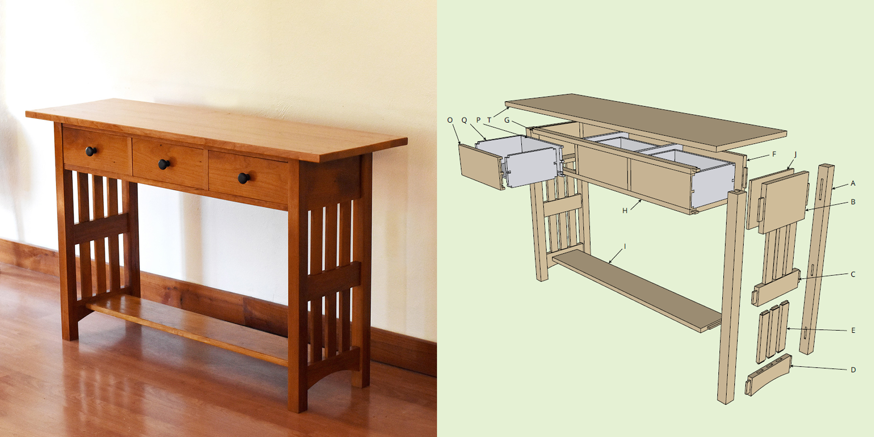 Woodworking plans TV Table